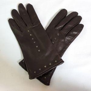 Leather Gloves Women's sz M